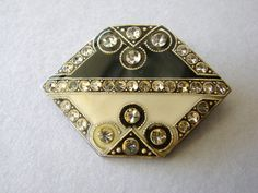 Vintage art deco style black and white brooch with by fayebella, $10.00