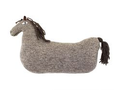 Little HORSE soft knitted toy - brown