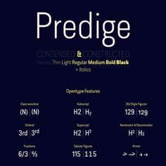 Predige Rounded by Type Dynamic. Here comes Predige Rounded, the softer version of the Predige font family from Type Dynamic. Round Font, Condensed Font, Sans Serif Fonts, Typographic Design, Font Family, Cool Fonts, Art Logo, Logo Inspiration, Type