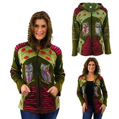 Owl Party Hooded Jacket at The Animal Rescue Site