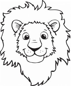 Print Cute Cartoon Lion Coloring Pages