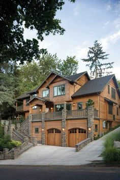 Log home. It's possibly a facade, but wonderful nevertheless.