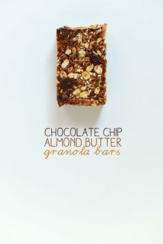 Chocolate Chip Almond Butter Granola Bars #minimalistbaker