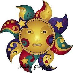 Sun, Moon and Stars clip art Sun Moon Stars, Sun And Stars, Moon Images, Art Images, Moon And Star Quotes, Sun Drawing, Sun Painting, Rock Painting, Sun Illustration