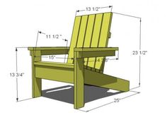 DIY - FREE PLANS How to Build a Super Easy Little Adirondack Chair