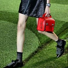 Incredibly cool bags and shoes ruled at Marc by Marc Jacobs. Redonline.co.uk