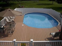 Semi inground pools with decks concrete floor panels for Table 52 townsville