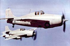 A flight of F4F Wildcats.