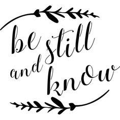 Designer Stencils Be Still and Know Stencil, Beige/Ivory Sign Stencils, Free Stencils, Stencil Templates, Stencil Designs, Printable Letter Stencils, Printable Stencil Patterns, Cricut Stencils, Printable Designs, Printables