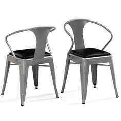 Padded Silver Tabouret Stacking Chairs (Set Of 4)   Overstock™ Shopping    Great