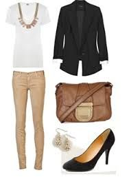 outfit tan pink blouse - Google Search