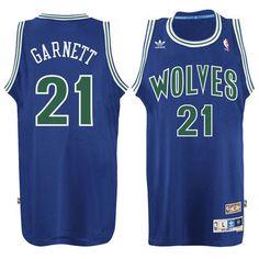 Men s Minnesota Timberwolves Kevin Garnett adidas Blue Hardwood Classic Swingman  Jersey 63edc536b