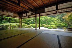 Shoin of Shisen-do temple in Ichijo-ji/Shugaku-in area, Kyoto, Japan