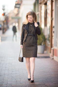 etite Fashion and Style Blog   Ann Taylor Spotted Jacquard Sheath Dress