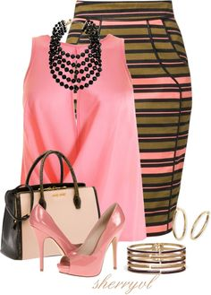 """""""Striped Skirt Contest"""" by sherryvl on Polyvore"""