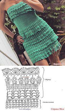 Ideas Crochet Vestidos Fashion Vanessa Montoro For 2019 Crochet - Diy Crafts Crochet Skirt Pattern, Crochet Skirts, Crochet Stitches Patterns, Crochet Designs, Crochet Clothes, Crochet Diy, Mode Crochet, Crochet Woman, Vanessa Montoro