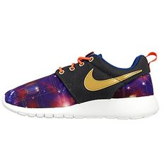 official photos 2e6a1 5ac88 Nike Kid s Roshe One Print GS, Metallic Hematite Metallic Gold-Light Photo  Blue. Runners Shoes ...