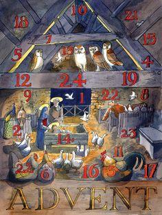 traditional advent calendar open doors - Google Search