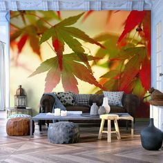 Jesienne liście na tapecie