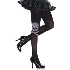 Skull and Crossbones Tights - New Age, Spiritual Gifts, Yoga, Wicca, Gothic, Reiki, Celtic, Crystal, Tarot at Pyramid Collection