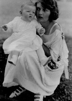 Zelda and Scottie photographed at White Bear Lake, Minnesota during the summer of 1922
