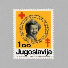 Red Cross, Anti-turberculosis. Yugoslavia, 1975. Design: Al Daskalović. http://grafiktrafik.tumblr.com