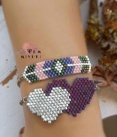 Source by aysubeyzideniz Bead Jewellery, Beaded Jewelry, Beaded Earrings, Beaded Bracelets, Peyote Beading, Layered Jewelry, Pony Beads, Bracelet Tutorial, Bead Weaving
