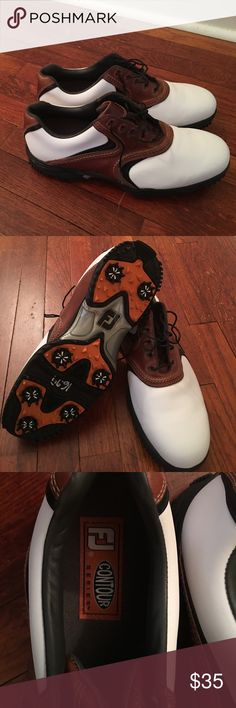 Footjoy Golf Shoes Men's Size 12 NWOT sleek pair of Footjoy Contour golf shoes.  Water resistant and go with any golf gear.  Never worn.  Too small for my feet.   Spend less than it costs for a round for years of comfort. Footjoy Shoes Athletic Shoes