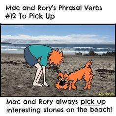 Mac and Rory's phrasal verbs #12: to pick up. English Grammar For Kids, Grammar Rules, Homeschool, Mac, Homeschooling, Poppy