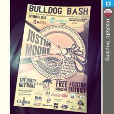 @msstate_housing---We have 2 more 2014 Bulldog Bash posters to give away! Repost to win! Tag @msstate_housing to win!