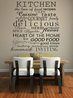 Kitchen Words Decorative Vinyl Wall Decal by imprinteddecals, $14.99
