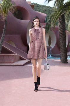 Christian Dior Resort 2016 Fashion Show Collection plaid dress