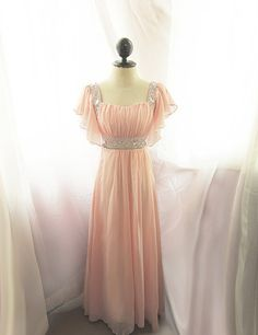 Medieval Egyptian Baby Pink Peach Blush Dusty by RiverOfRomansk, $148.50