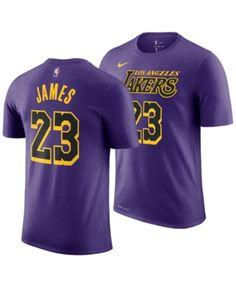 b4d203711d51 Nike LeBron James Los Angeles Lakers City Edition T-Shirt, Big Boys (8