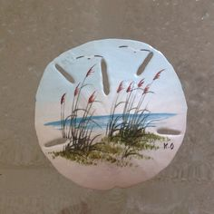 Hand Painted Sand Dollar by VintageFrantastical on Etsy