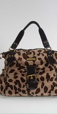 Juicy Couture Leopard Velour Stroller Bag in Heather Croissant. $298.00
