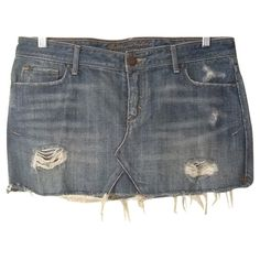 Classic a used denim mini denim skirt ABERCROMBIE found on Polyvore