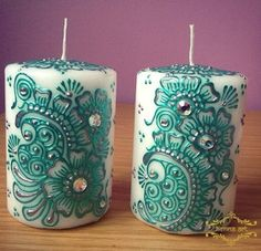 Vela Luxury Lime & Bay com tampa Henna Candles, Diy Candles, Pillar Candles, Candle Art, Candle Lanterns, Velas Diy, Henna Doodle, Hena, Pierre Decorative