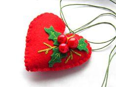 felt holiday ornament felt bookmark Felt ornaments by Marywool, $11.00