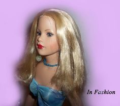 Blue Rose Dress For Kitty Collier Doll by InFashions on Etsy, $12.99