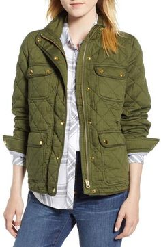 Beautiful J.Crew Quilted Downtown Field Jacket Fashion Womens Clothing from top store Cheap Raincoats, Raincoats For Women, Jackets For Women, Clothes For Women, Field Jacket Womens, Rain Jacket Women, Hooded Raincoat, Dog Raincoat, Accessories