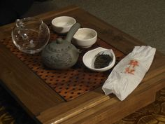 Drinking red tea at my home, a sample gift from Hanami Teahouse, Budapest