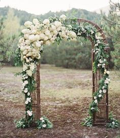 Featured Photographer: Jose Villa; gorgeous outdoor wedding ceremony