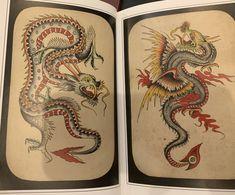 Amund Dietzel, Dragon Tattoo Flash, Vintage Tattoo Design, Old School Tattoo Designs, Traditional Tattoo Flash, Vintage Flash, Asian Tattoos, American Tattoos, Classic Tattoo
