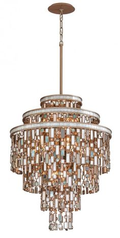 Corbett 142-413 Thirteen light gold multi-color pendant *Available in different sizes*