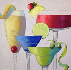 "Cheers! by Pat Doherty Oil ~ 24"" x 24"""