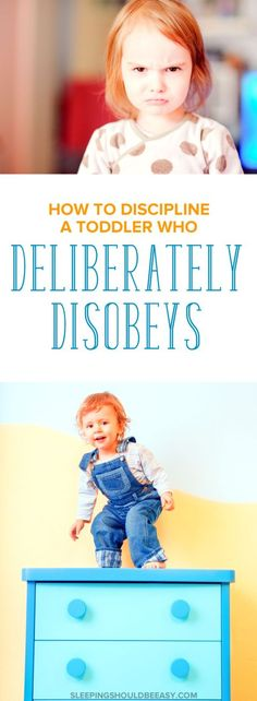 Actionable tips on how to discipline your toddler when he or she deliberately disobeys. How do you discipline when they're outright defying you? This article includes effective tips on how to do just that.