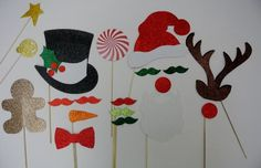 New Years 2014photo Booth Party Props Mustache on a Stick Bowler Hat Ladies Hat Mustaches Glasses so Cute Material Glitter Foamy * Want to know more, click on the image.