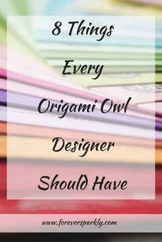 A great list of things every Origami Owl Designer needs to run a successful direct sales business from home and with style. via…