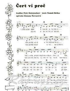 noty k písním z pohádky tajemství staré bambitky - Hledat Googlem Quilling Art, Piano, Sheet Music, Notes, Ms, Entertainment, Report Cards, Music Score, Notebook